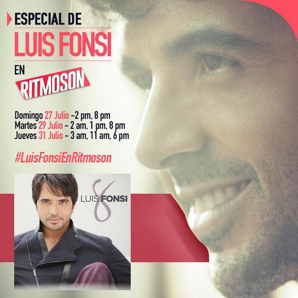 Tenemos una cita con @luisfonsi y  @RitmosonOficial #LuisFonsiEnRitmoson Info aquí: http://t.co/6Ed7jUv0gV ¡No te lo pierdas!!