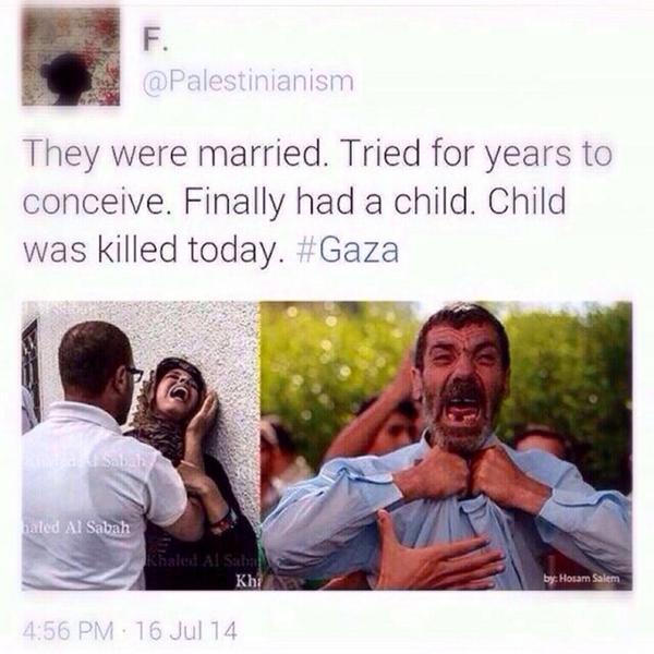 متزوجين من سنين .. و رزقهم ربي الطفل بعد انتظار .. و استشهد