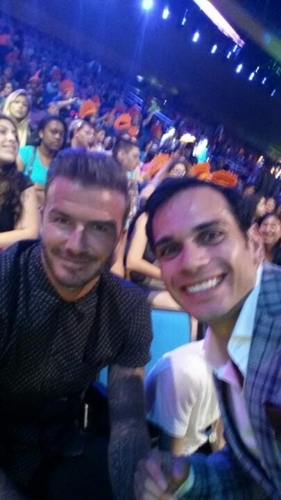I think some girls would be jealous, he is so cool! Guess who he is?? Any soccer fans? http://t.co/6btufBUcr2
