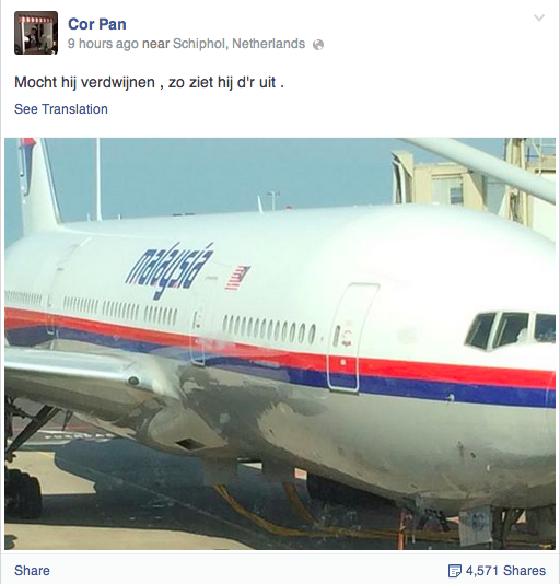 "#Malaysia #Airlines Passenger Joked On Facebook ""If It Disappears, This Is What It Looks Like"" http://t.co/bf0JJ0Liye http://t.co/9ecn4Lyf0z"