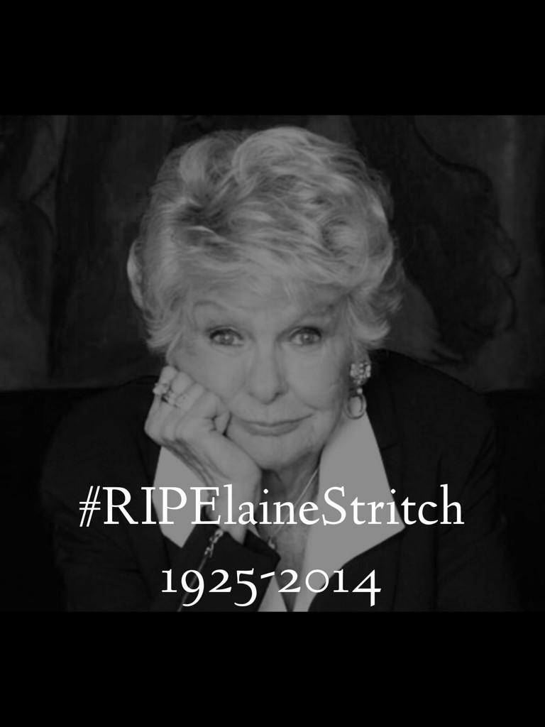#RIPElaineStritch An amazing actress, singer, broadway performer, and entertainer who inspired so many. http://t.co/PNF0NFi6LH