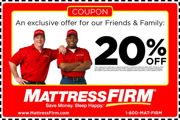 "Mattress Firm on Twitter ""Q6 Please enjoy this 20% off"