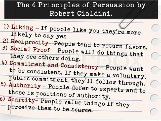 Twitter / JoyAndLife: The 6 principles of persuasion ...