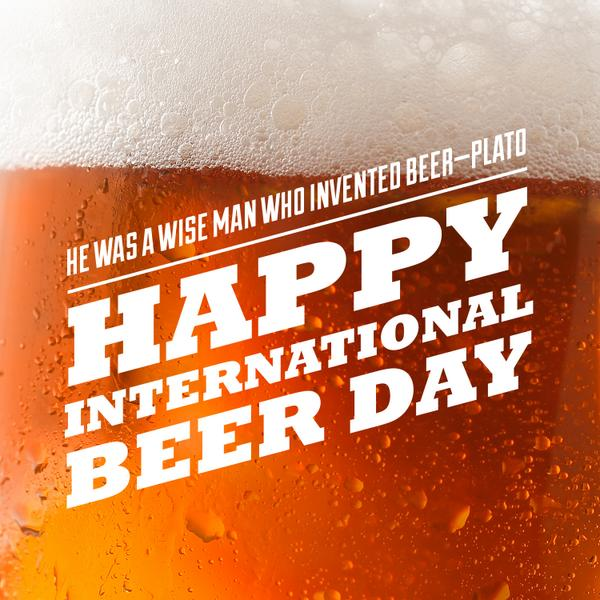 Raise a glass of your favorite brew today! Happy International Beer Day! http://t.co/DtzT742mma