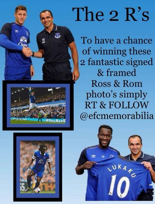 last chance 2 #WIN SIGNED Ross & Rom FRAMED PHOTO'S 2 have a chance RT & follow @efcmemorabilia #CONNECTINGTHEBLUES http://t.co/1dq9gs7bev