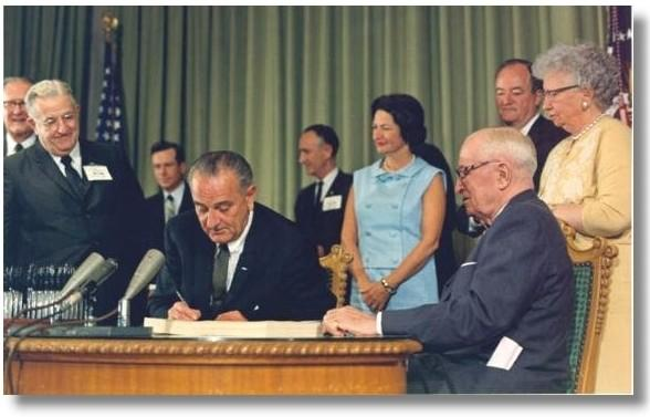 On this day in 1965, President #LBJ made our national well-being a priority by signing Medicare into law http://t.co/JvvTw92Mtm
