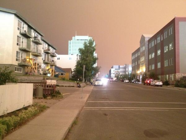 It is so eerie in downtown #yZf http://t.co/areAHZALFI