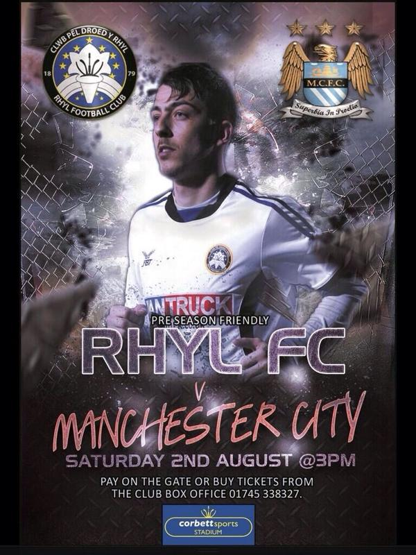 Rhyl FC v Man City FC This Sat 3pm RT to have a chance to win City Signed Shirt @mancityalerts @MCFdotNet http://t.co/vHYkEEwZAE