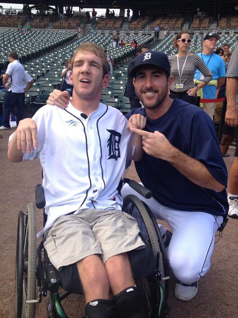 RT @JustinVerlander: So great getting to spend some time with a true inspiration @agar_john today!  Hope u and ur family enjoy the game! ht…