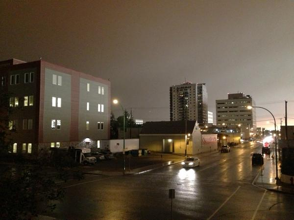 First lightning sighting from downtown. Please no more fires #yzf http://t.co/MJ0qK7ZiD5