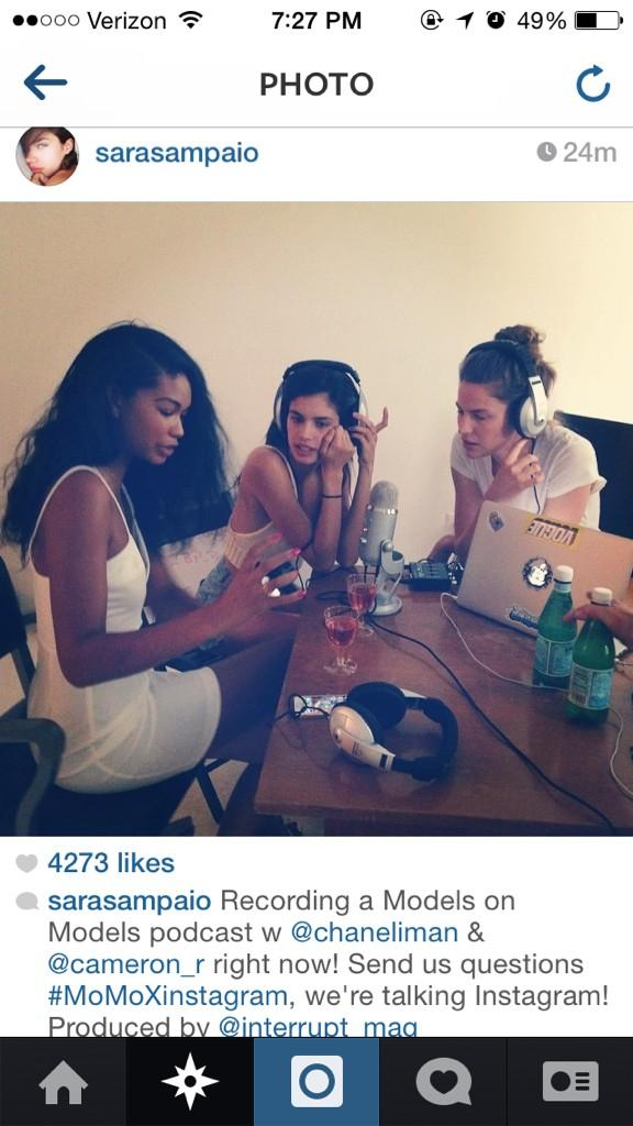 RT @Interrupt_mag: #MoMoXinstagram first episode ft. @Sara_Sampaio & @chaneliman http://t.co/juX9mHwli3