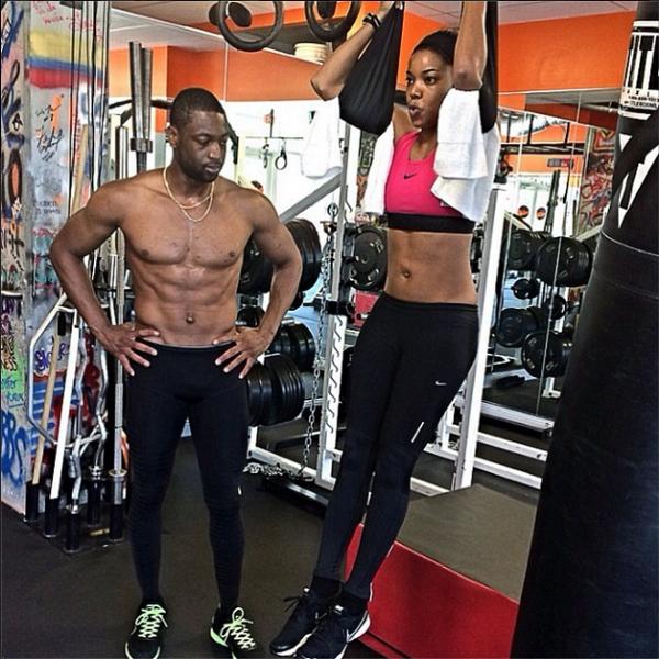 "Dwyane Wade Workout: Nicholette On Twitter: ""Relationship Goals ""@necolebitchie"