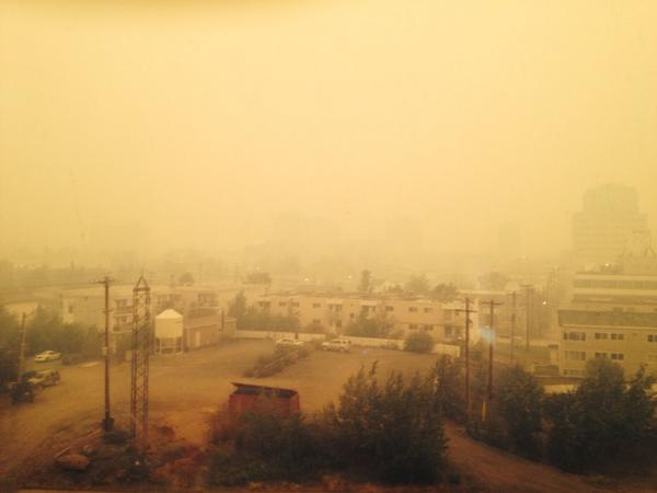 Holy smoke, #yzf! Literally. http://t.co/bUAi2MrcZw