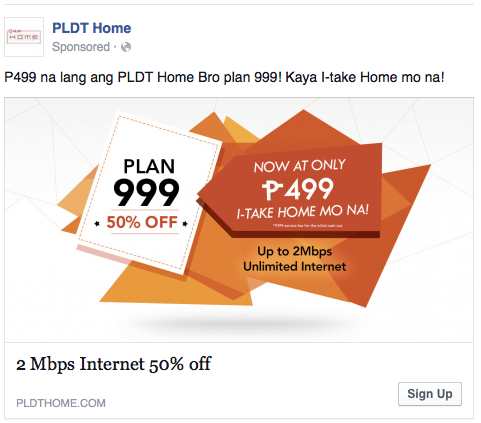 Bullshit marketing of @PLDTHome.   P499 for the initial cash out only. P999 parin per month, locked-in pa for 24Mon. http://t.co/NiWTGcA6a3