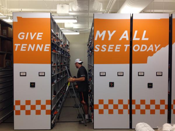 The equipment room is in full swing! #IWillGiveMyAllForTennesseeToday http://t.co/t1JhwNKWHt