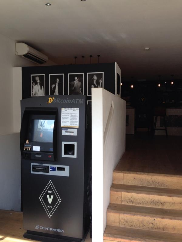 Bitcoin ATM at a 'E-cigarette and coffee shop' in Shoreditch. Nathan Barley, your work is done. http://t.co/MjT6BdVOFg