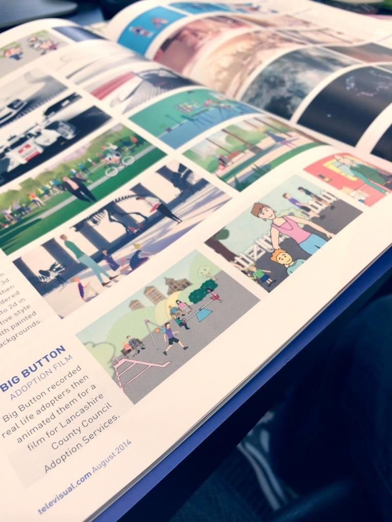 RT @bigbutton: We're featured in Televisual magazine, for our Lancs Adoption Animation. Well done to tiny gfx king @mark_phillips89 http://…