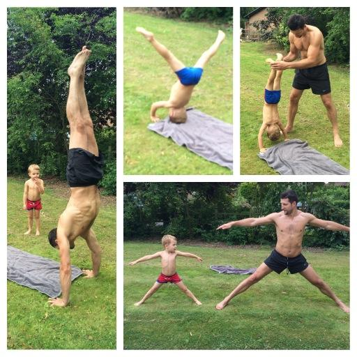 Daddy & Rocco practising for #Tumble @BBCOne http://t.co/H5LOcRVnPb
