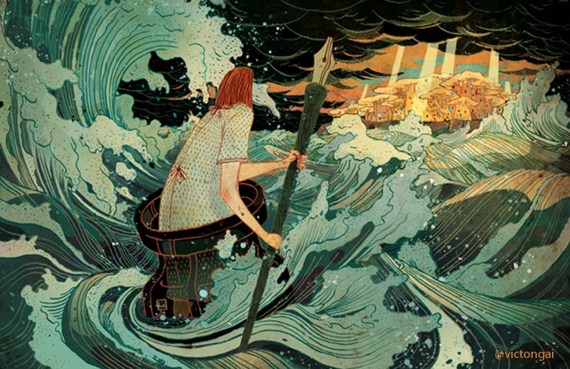 RT @ThamKhaiMeng: Harrumph. Lost at sea. Must be writer's block! My friend @victongai adroitly illustrated my mood today. http://t.co/2KAtp…