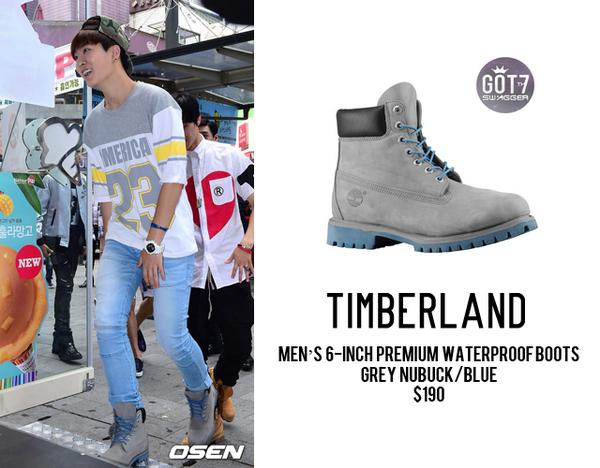 timberland boots grey nubuck/blue