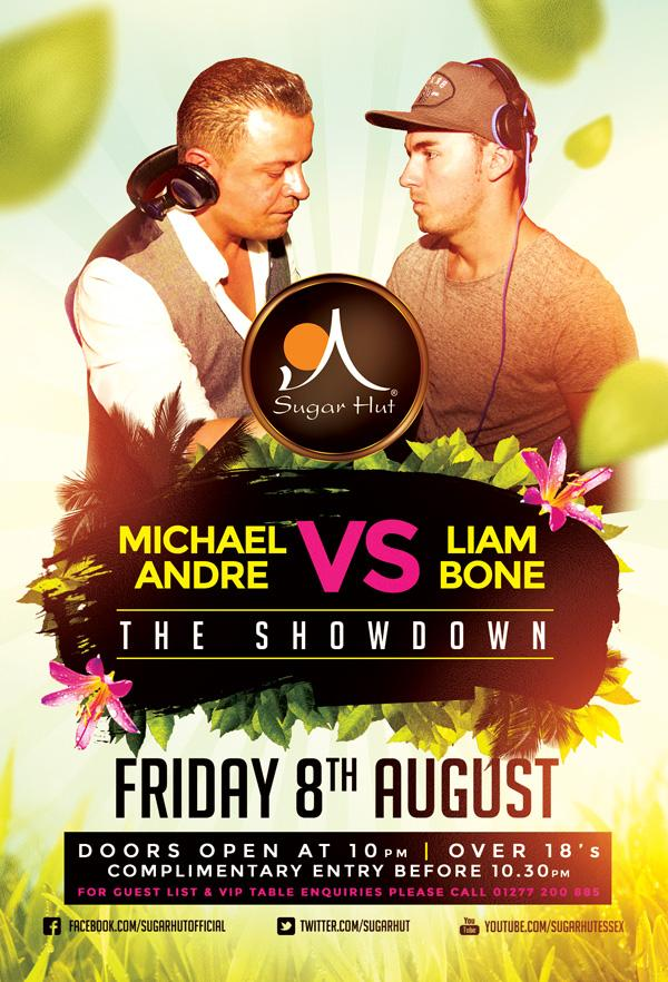 Next Friday @mrmichaelandre back2back with @LiamBone1 very limited #vip tables left please call 01277 200885 ASAP http://t.co/KrsskCqZg9