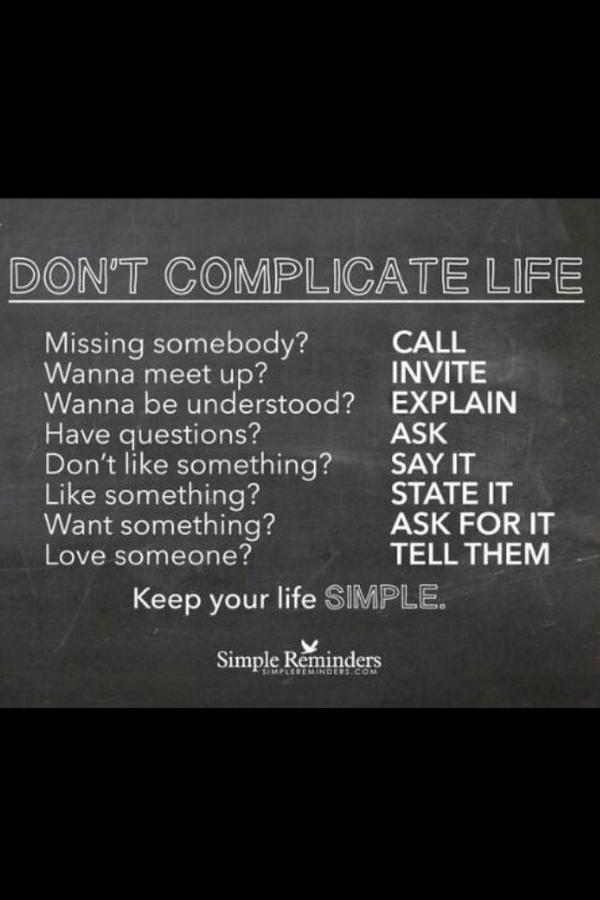 Still love this. Are you overcomplicating life? Stop. Do this instead. http://t.co/NbcaEw9Xw4