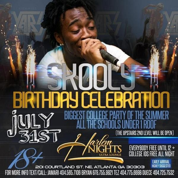 #CollegeInvasion RELOADED @ #HarlemNights + @SB_Skooly's GDAY BASH! @RICHKIDz4L in the BUILDING! (FREE TIL 12) http://t.co/rJ7ZD8WRKg
