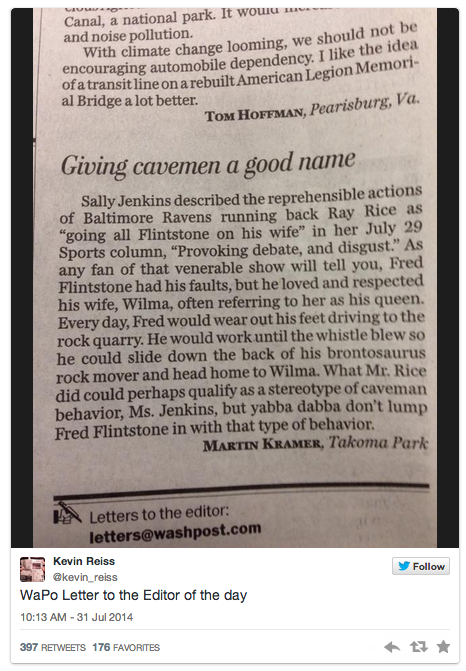 "sb nation on twitter: ""letter to editor rebukes @washingtonpost for"
