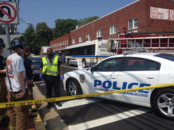 Woman hit and dragged 20 feet by bus in #UpperMarlboro. Officials say she's dead. @nbcwashington http://t.co/f3HDW2Kj9m