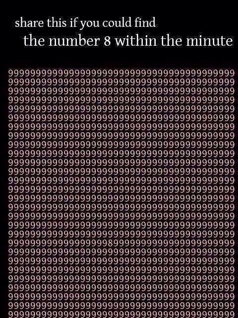 If you could find the 8 within 1 minute http t co 3sfffzqdd2