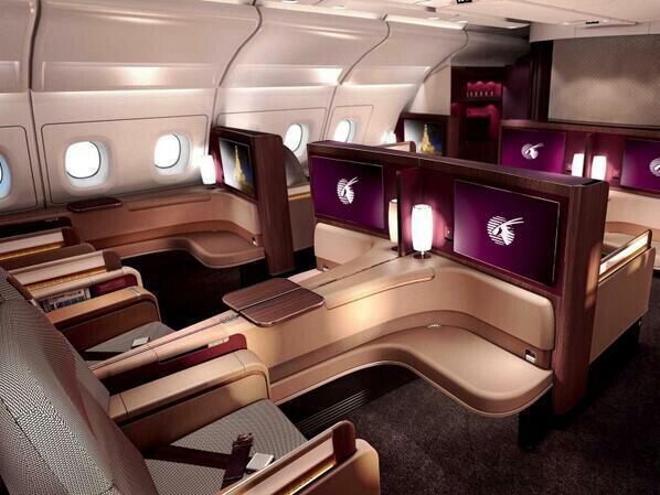 On twitter for Interieur qatar airways
