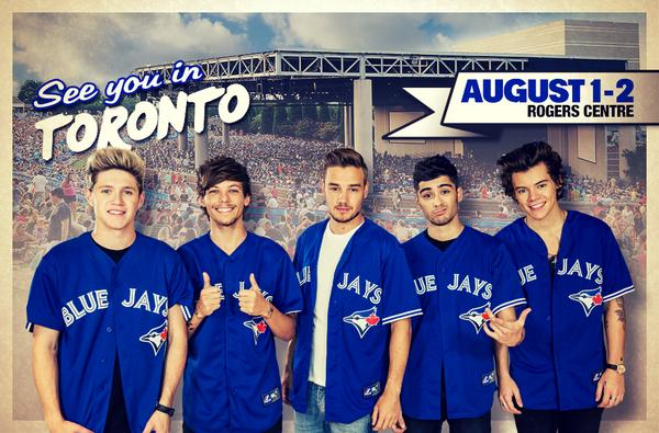 Tonight @onedirection plays their 1st of 2 shows @Rogers_Centre! Doors: 5PM @5SOS: 6:45PM One Direction: 8PM. Enjoy! http://t.co/H6ggYa4tZB