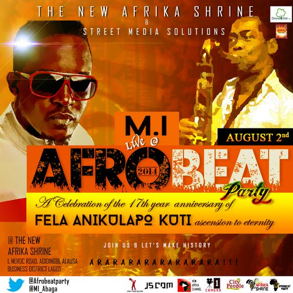 Have you heard? ''The Afro Beat Party 2014'' this Saturday at Fela Shrine