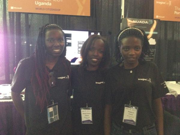 These three girls from Uganda developed an app for early sickle cell detection. #imaginecup http://t.co/ACiVZDxzG8