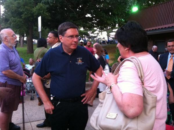 State Rep. Mark Painter, D-156th Dist. Is here listening to residents concerns as well. @MercuryX http://t.co/3SlE0698Fe