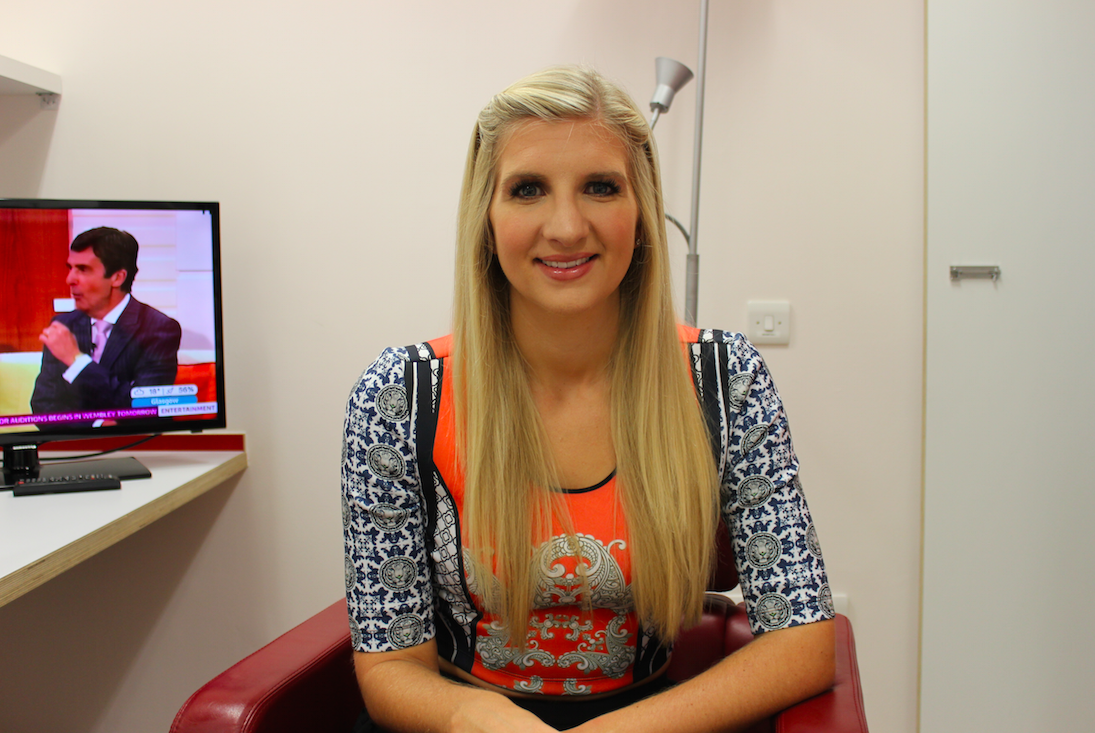 RT @GMB: We'll be talking to @BeckAdlington soon - here she is in her dressing room (nice to see #GMB on in the background!) http://t.co/o8…