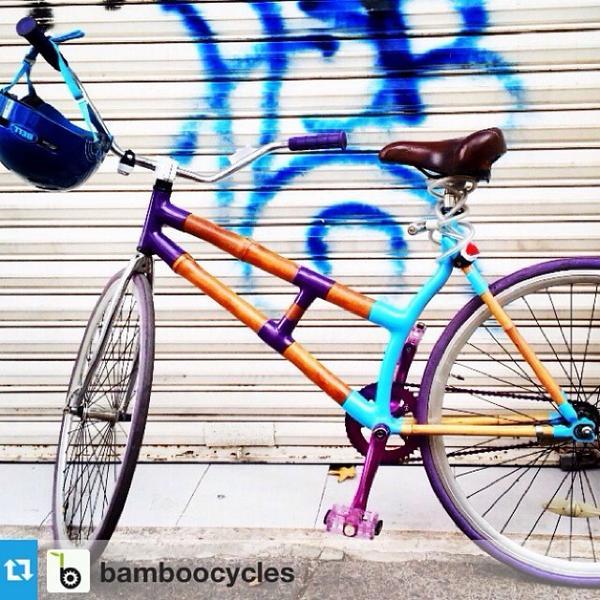 #bicirobada Se acaban de robar esta #bamboocycles en la #Condesa, cortaron cadena. Si la ven tacleen al ladrón!!!! http://t.co/ubSxp8SjCR