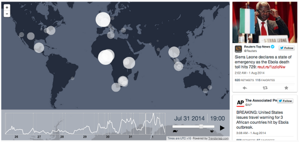 News about the latest Ebola outbreak has spread steadily around the world this week. http://t.co/aDmKs4m0yQ http://t.co/F0BXAJQ2FU