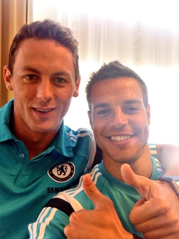 Photo of Nemanja Matic  & his friend César Azpilicueta