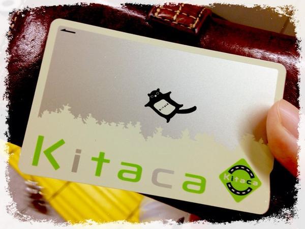 モモンガがかわゆすぎて北海道でKitaca買ってきた。このデザインも綺麗でいいよねーー。ICカードが全国共通になったから躊躇なく買えるよ。 http://t.co/0ShxEJNQ2E
