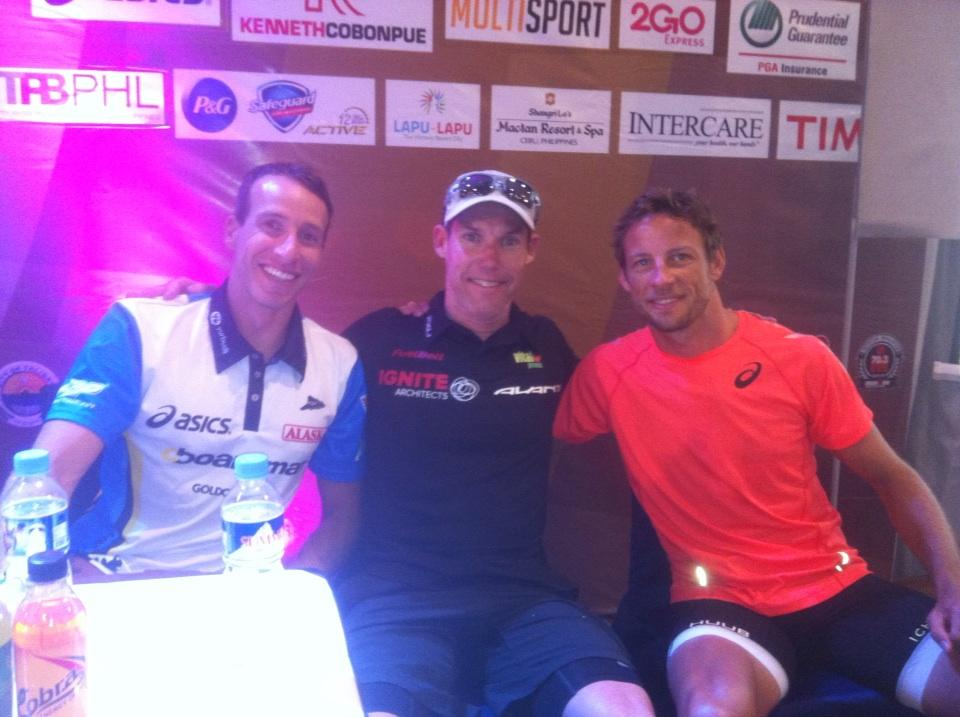 RT @ChuckiBrown: Hanging out with these two legends @JensonButton @petejjacobs at meet the pro's. http://t.co/rwgtMOKfb9