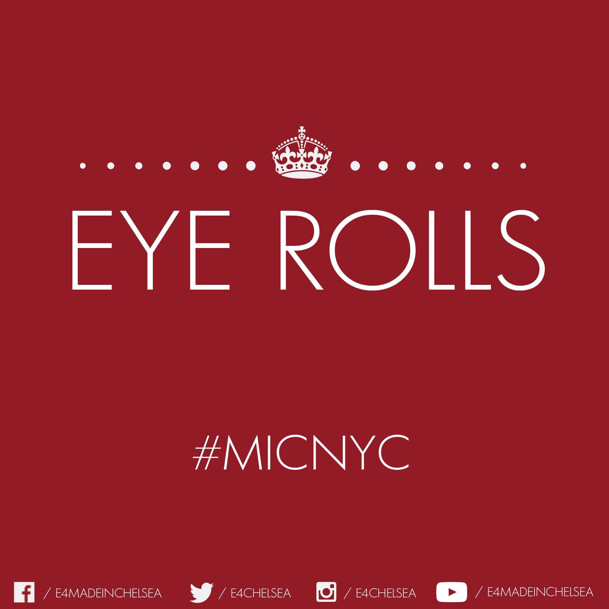 Bring on the #eyerolls in #MiCNYC... http://t.co/FFlRQhQedp