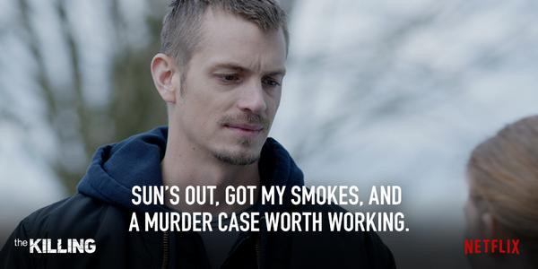 You're in a good mood this morning. #TheKilling #TheFinalSeason http://t.co/ToGwlfKl55
