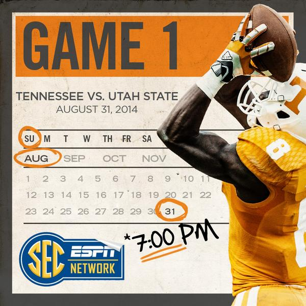 The calendar has turned to August … You know what that means!  Aug. 31, 2014 #SundayNightFootball on @SECNetwork http://t.co/qkK2oKl6L3