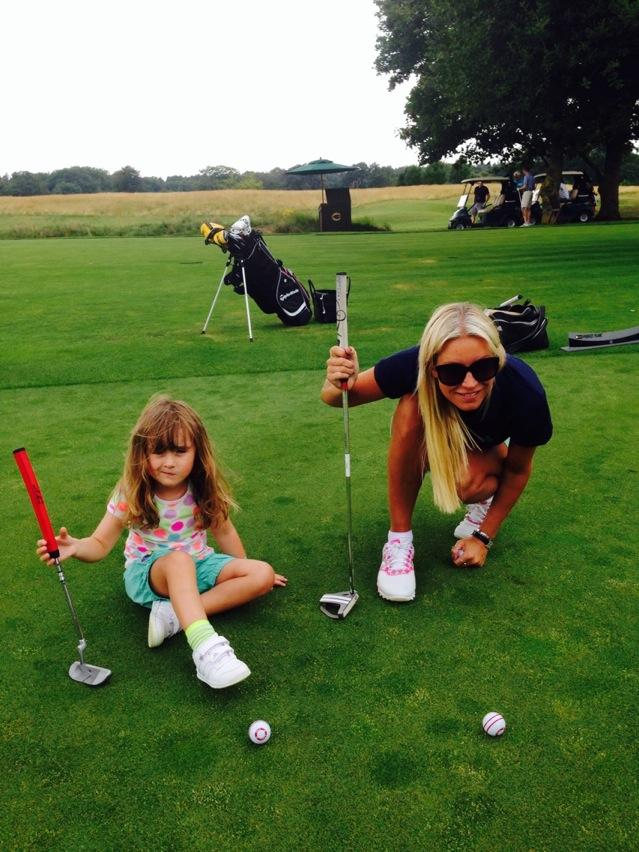 School summer holidays. Betsy loved playing on the putting green today @TheGroveHotel with mummy & @KevinMerry1 ⛳️ http://t.co/jAFlV9poqA