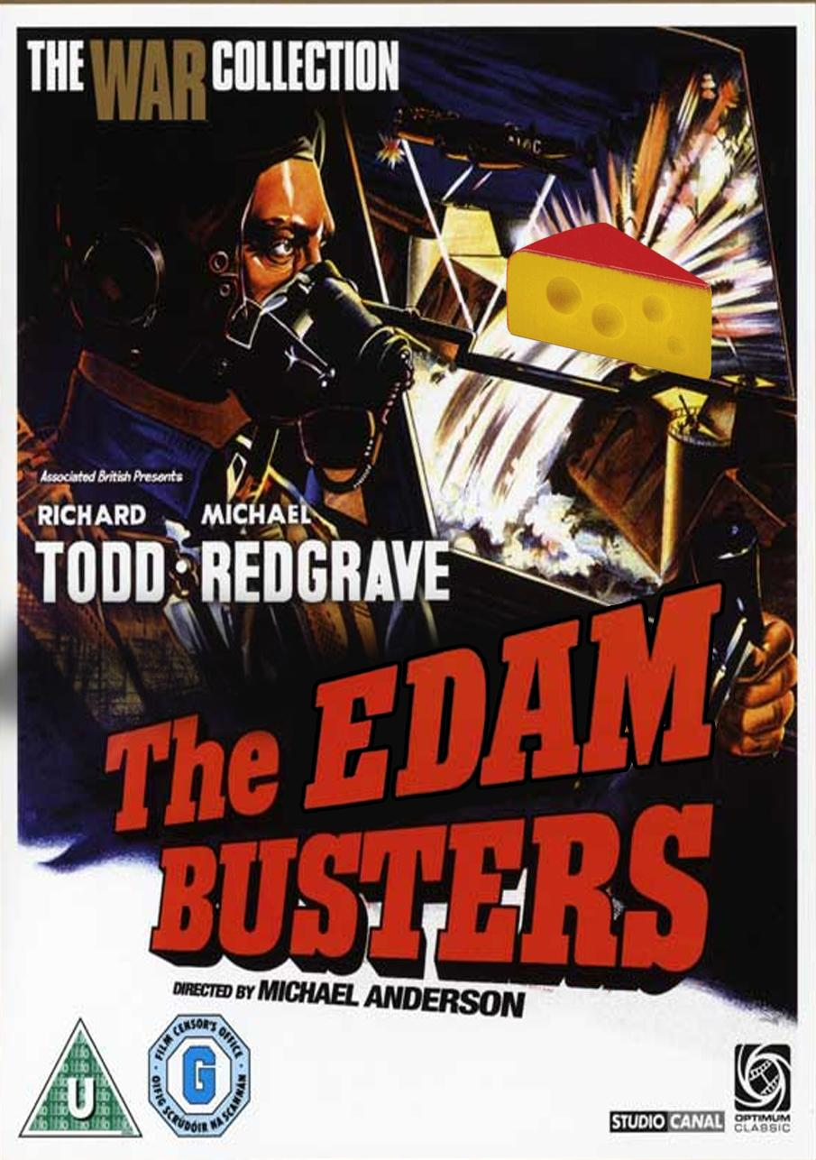 The weekend starts here with #ITV2PunRun. Let's have your best cheese films, and to get you going, The Edam Busters. http://t.co/zjNxrNdavS