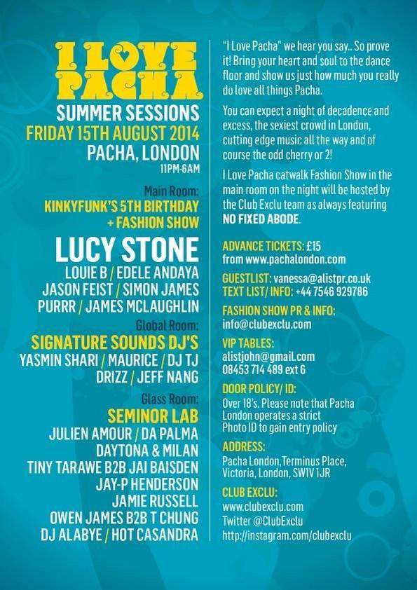Catch me and the @SigiSoundsDJ team playing a CRAZY SET at @pacha @pachalondonuk 15th August, who wants to come?? http://t.co/AOqaou62tH