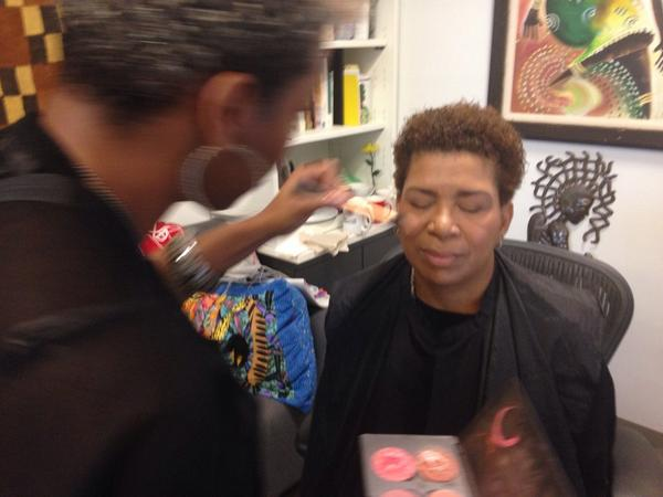 Michel getting some extra love from Michanna @dancenmakeup! http://t.co/Jo5SIiAaqA