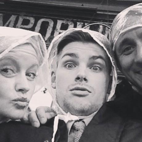 Aren't we glamourous in our GRANNY plastic hair nets @Hollyoaks @MrkieronR @NicPickard