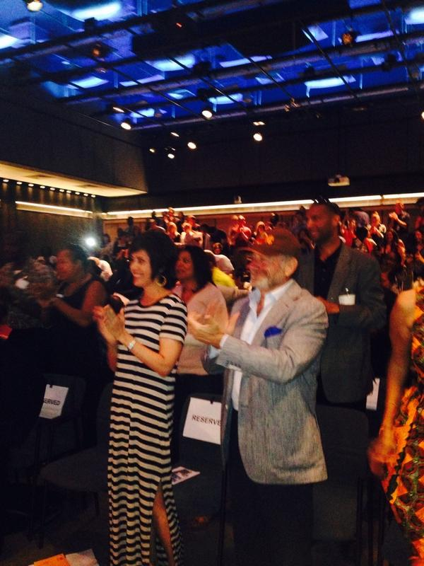 Audience gives Michel a standing ovation before the broadcast #nprmichel http://t.co/xuGaCQRAGR